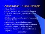 adjudication case example