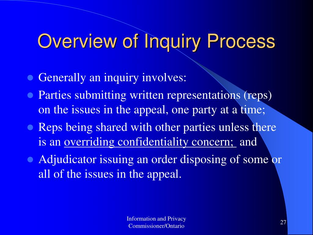 Overview of Inquiry Process