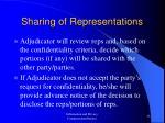 sharing of representations33