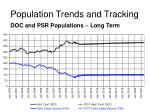 population trends and tracking11