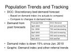 population trends and tracking13