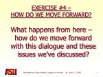 exercise 4 how do we move forward