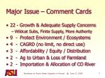 major issue comment cards