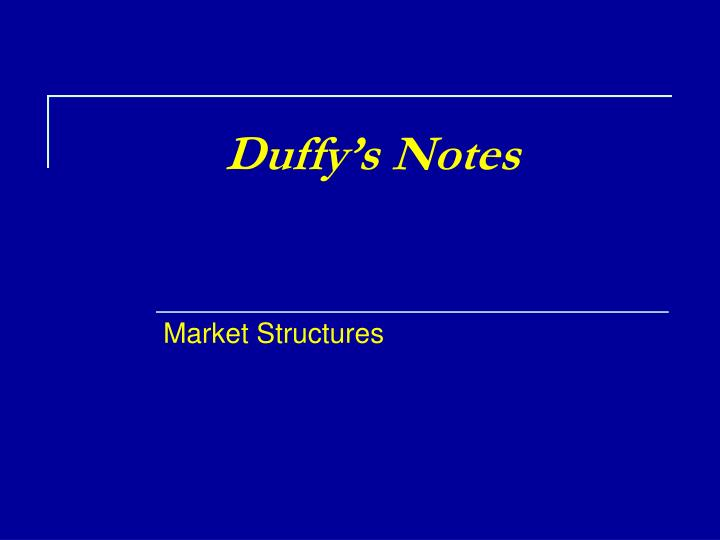 duffy s notes n.