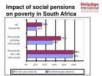 impact of social pensions on poverty in south africa