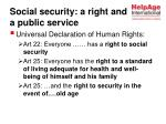 social security a right and a public service