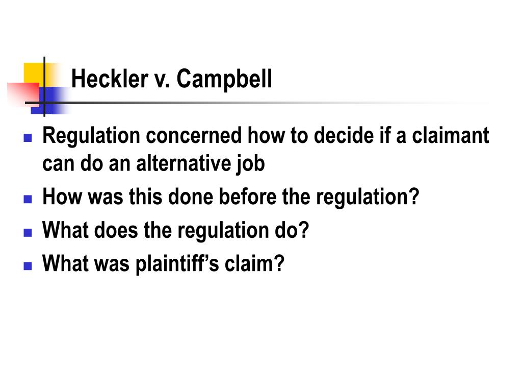 Heckler v. Campbell