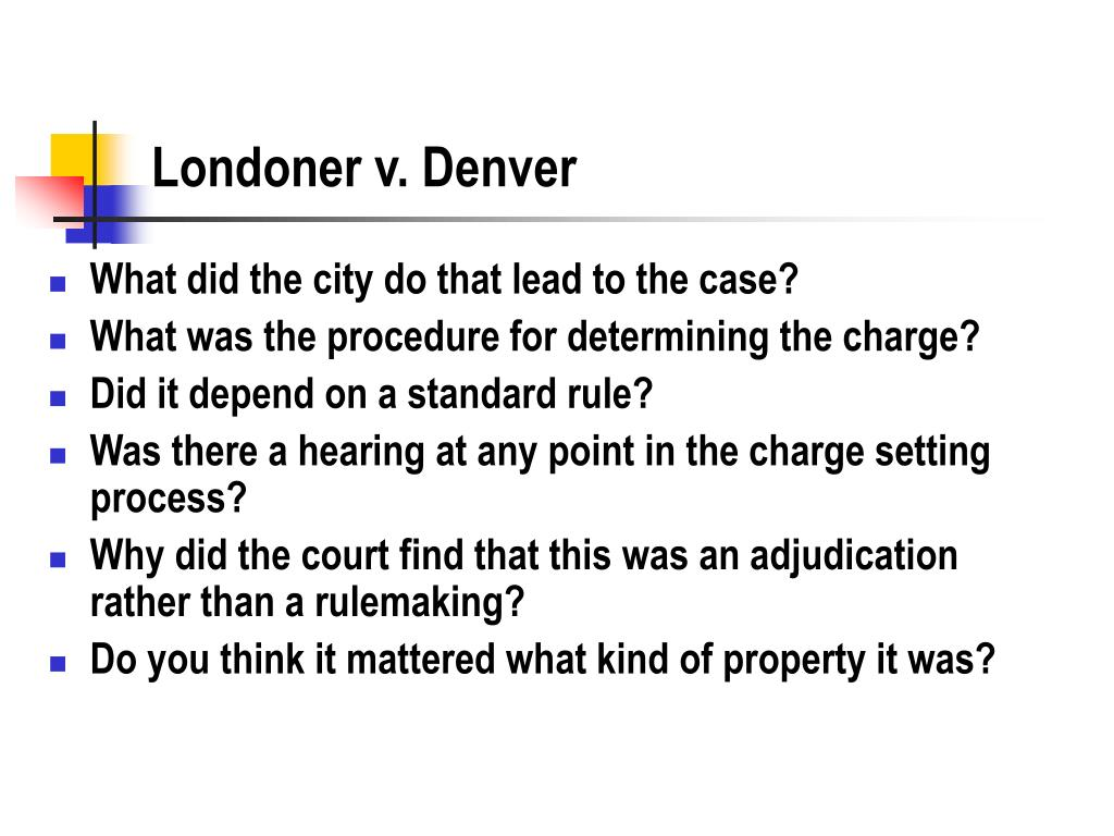 Londoner v. Denver
