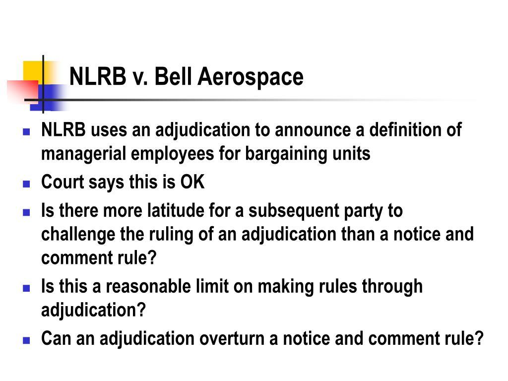 NLRB v. Bell Aerospace