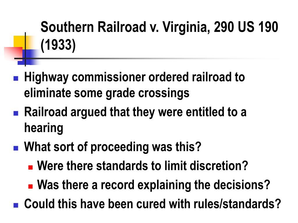Southern Railroad v. Virginia, 290 US 190 (1933)
