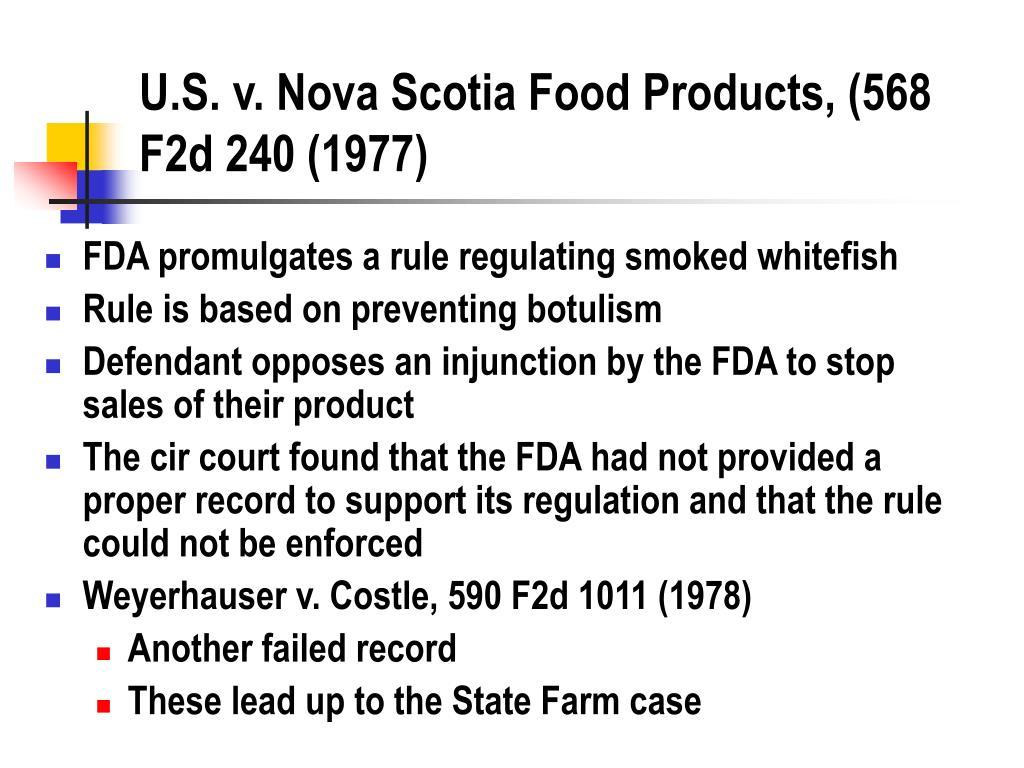 U.S. v. Nova Scotia Food Products, (568 F2d 240 (1977)