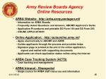 army review boards agency online resources