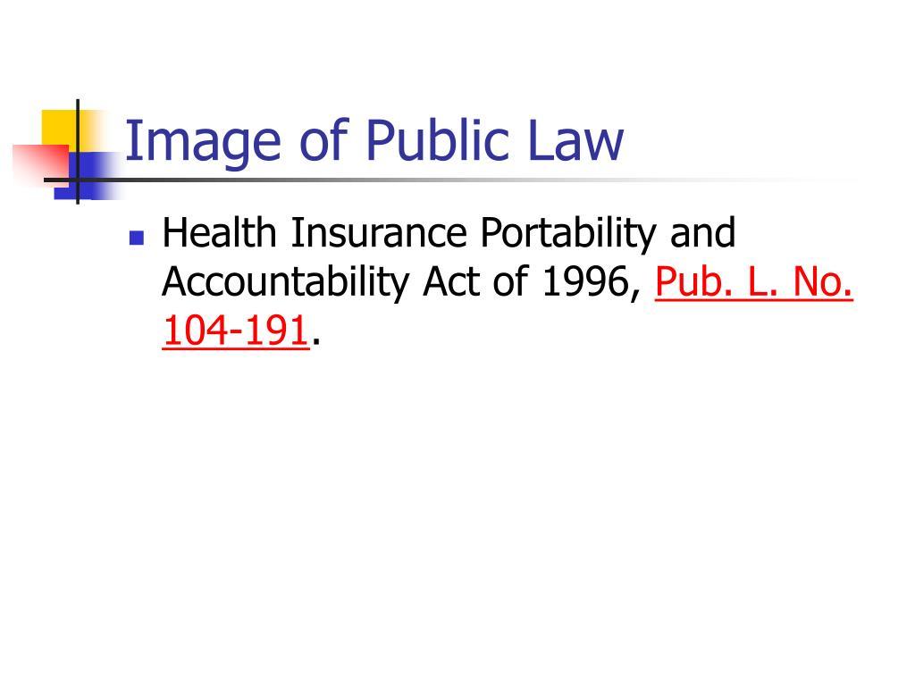 Image of Public Law