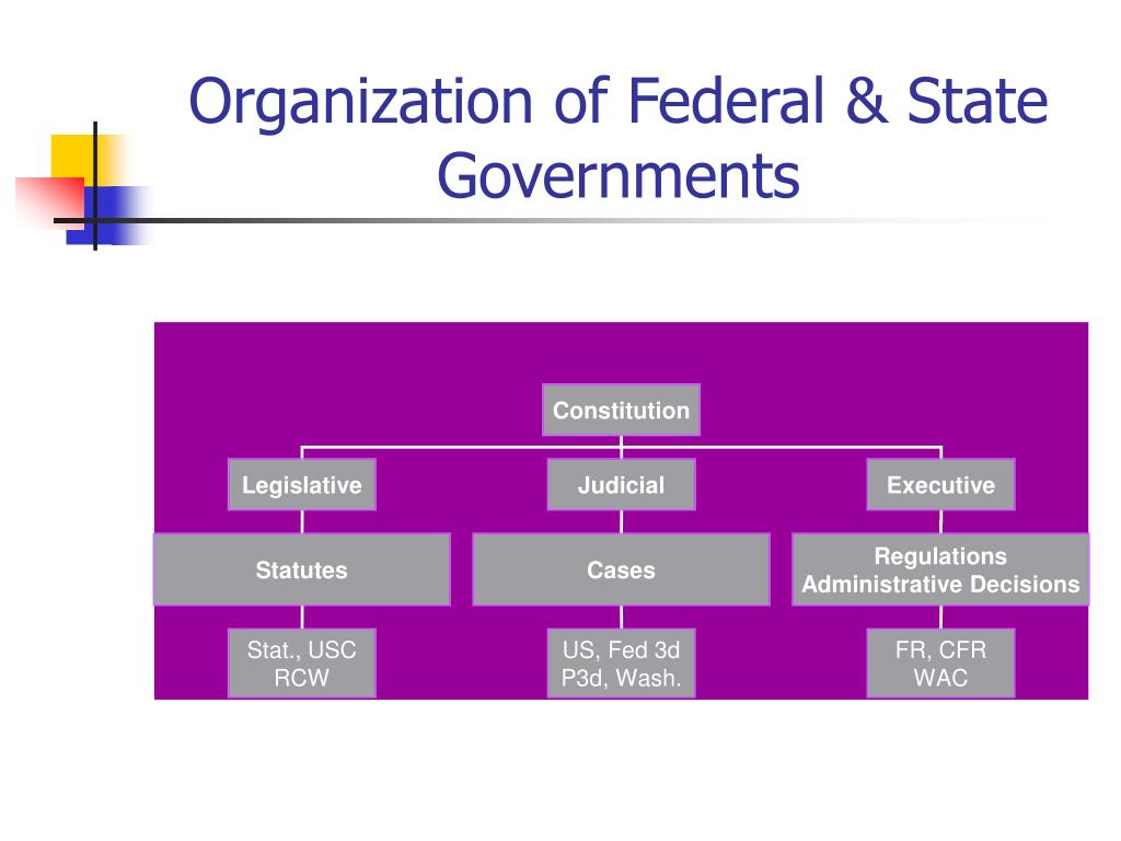Organization of Federal & State Governments