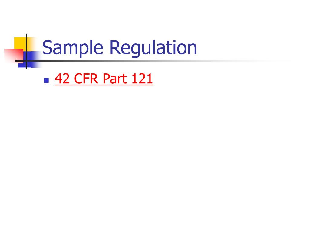 Sample Regulation
