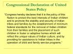 congressional declaration of united states policy