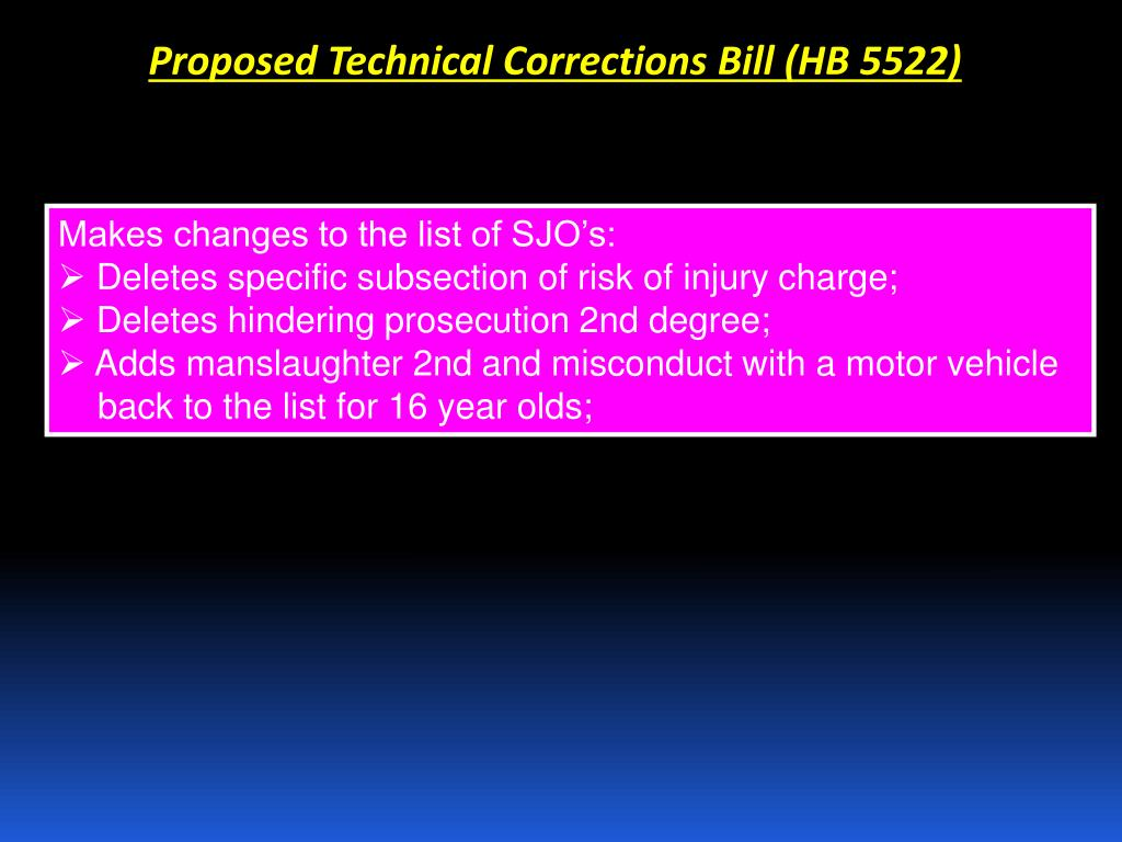 Proposed Technical Corrections Bill (HB 5522)