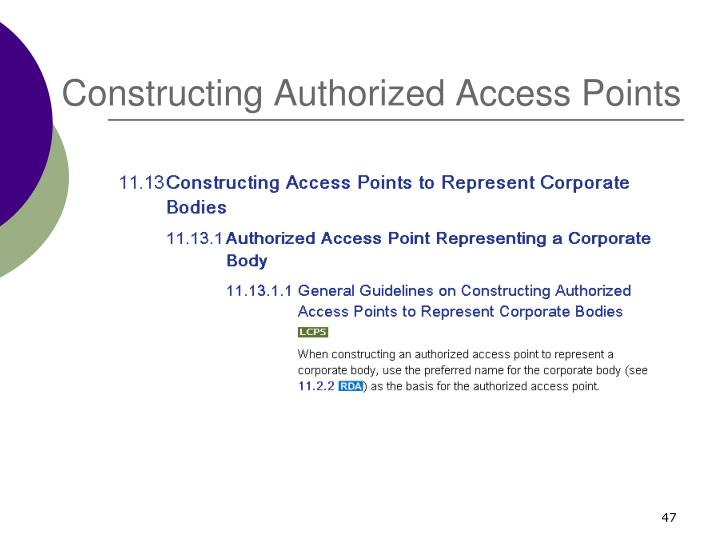 Constructing Authorized Access Points