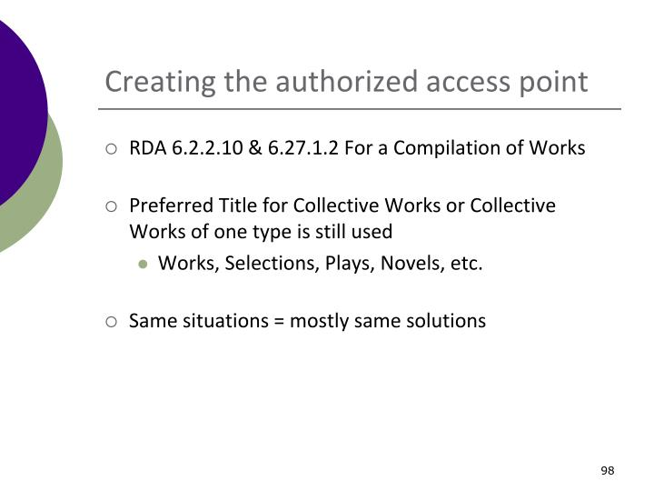 Creating the authorized access point