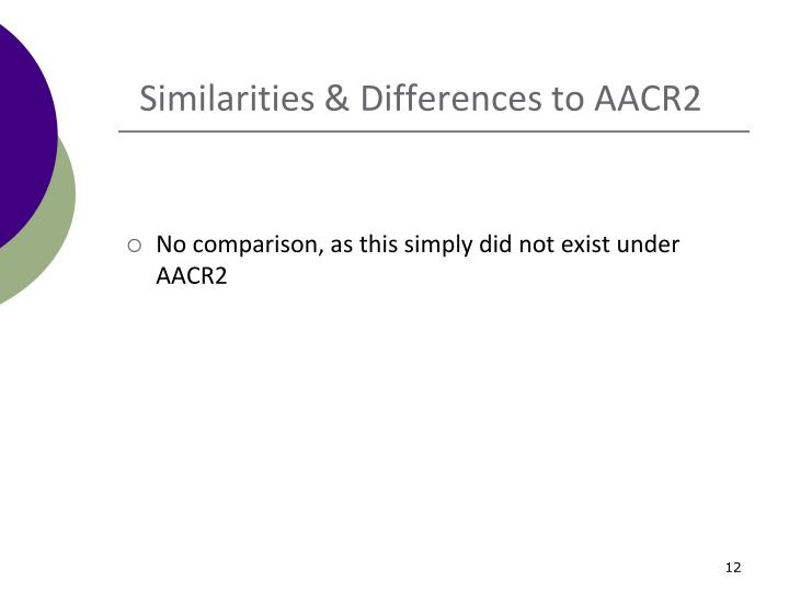 Similarities & Differences to AACR2