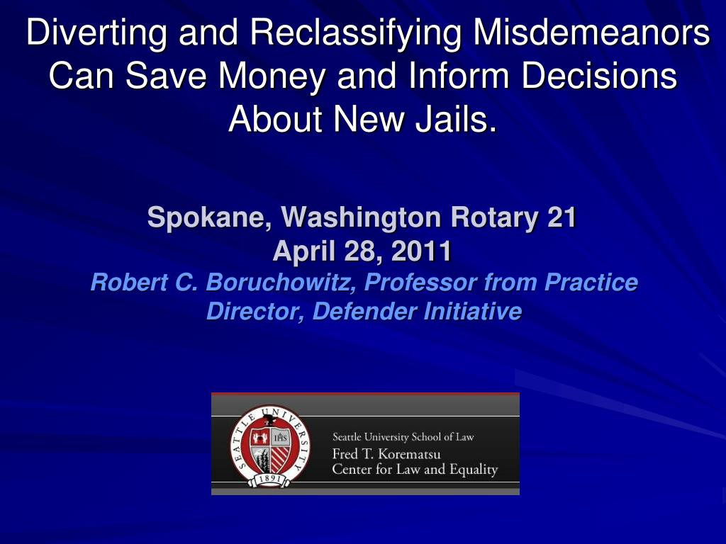 diverting and reclassifying misdemeanors can save money and inform decisions about new jails l.