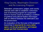 king county washington diversion and re licensing program