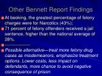 other bennett report findings