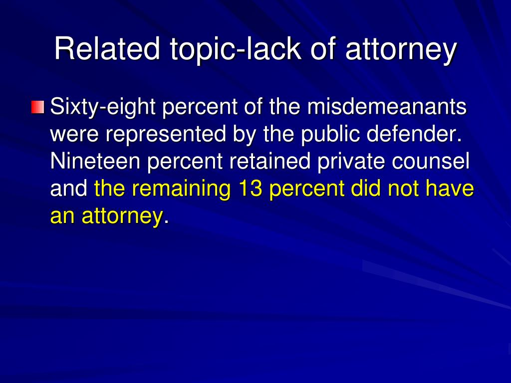 Related topic-lack of attorney