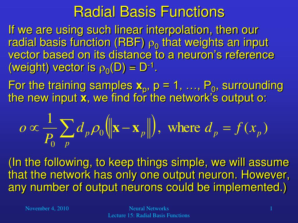 Introduction to radial basis function networks ppt video online.