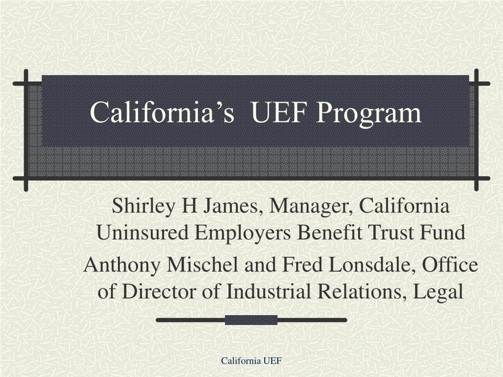 california s uef program l.
