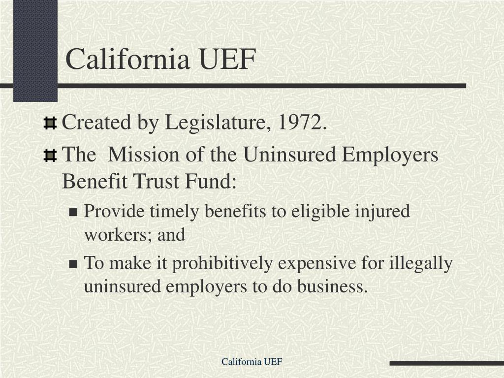 California UEF