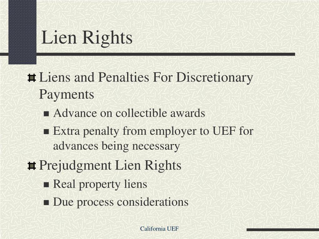 Lien Rights