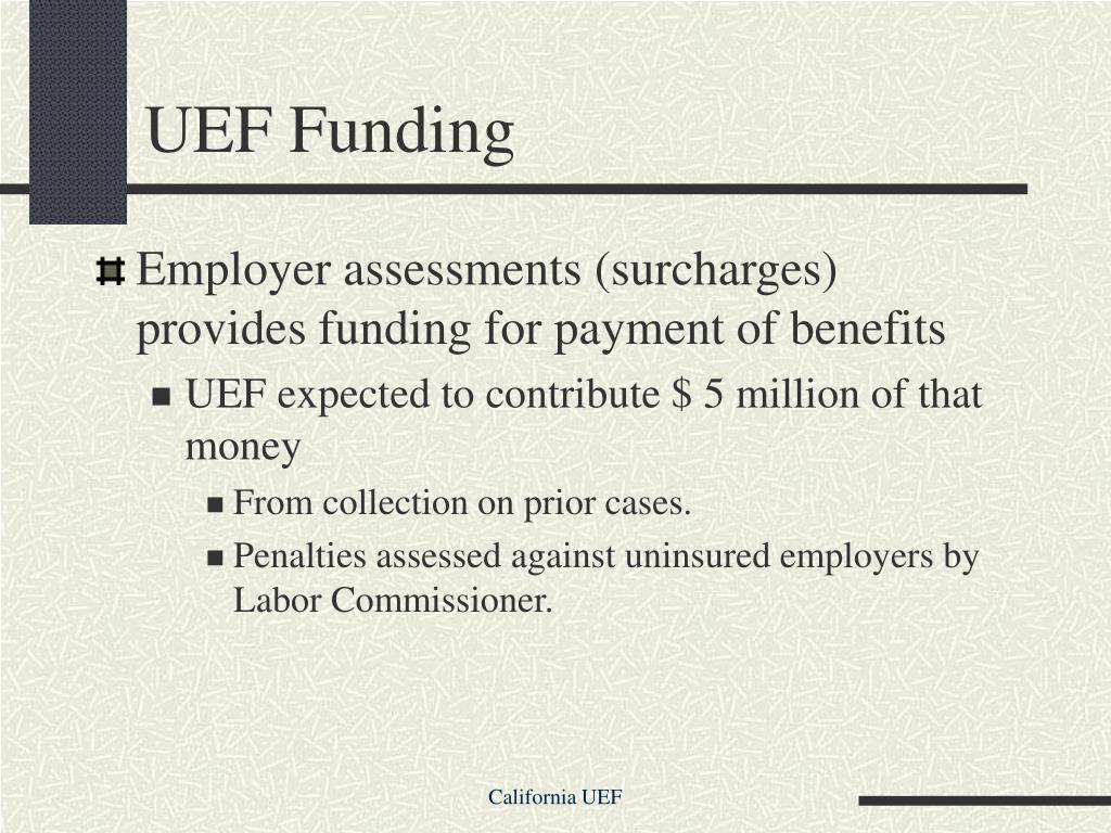 UEF Funding