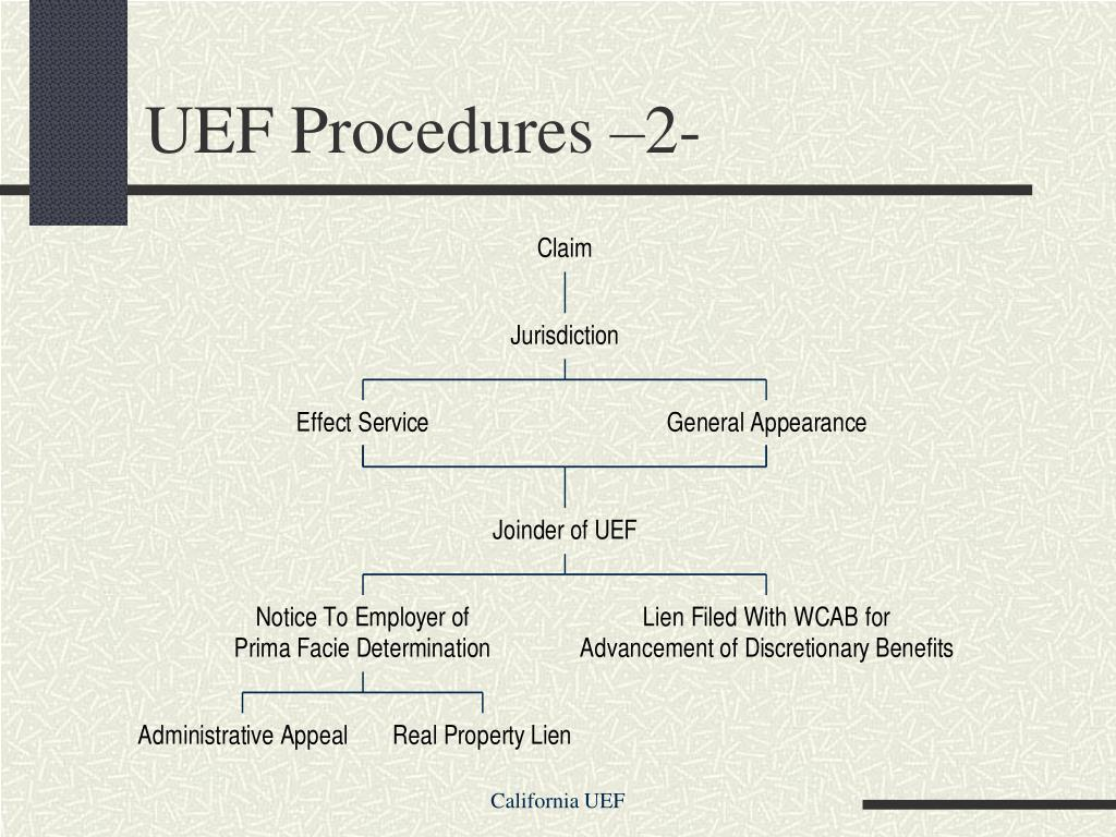 UEF Procedures –2-