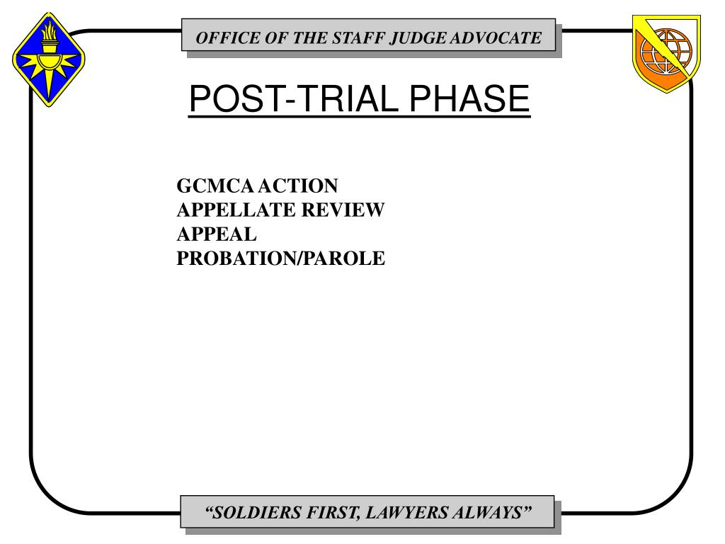 POST-TRIAL PHASE