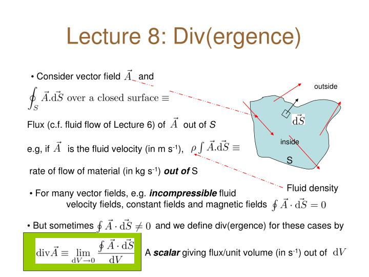 lecture 8 div ergence n.