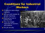 conditions for industrial workers