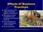 effects of business practices