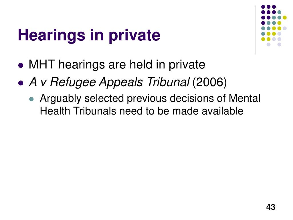 Hearings in private