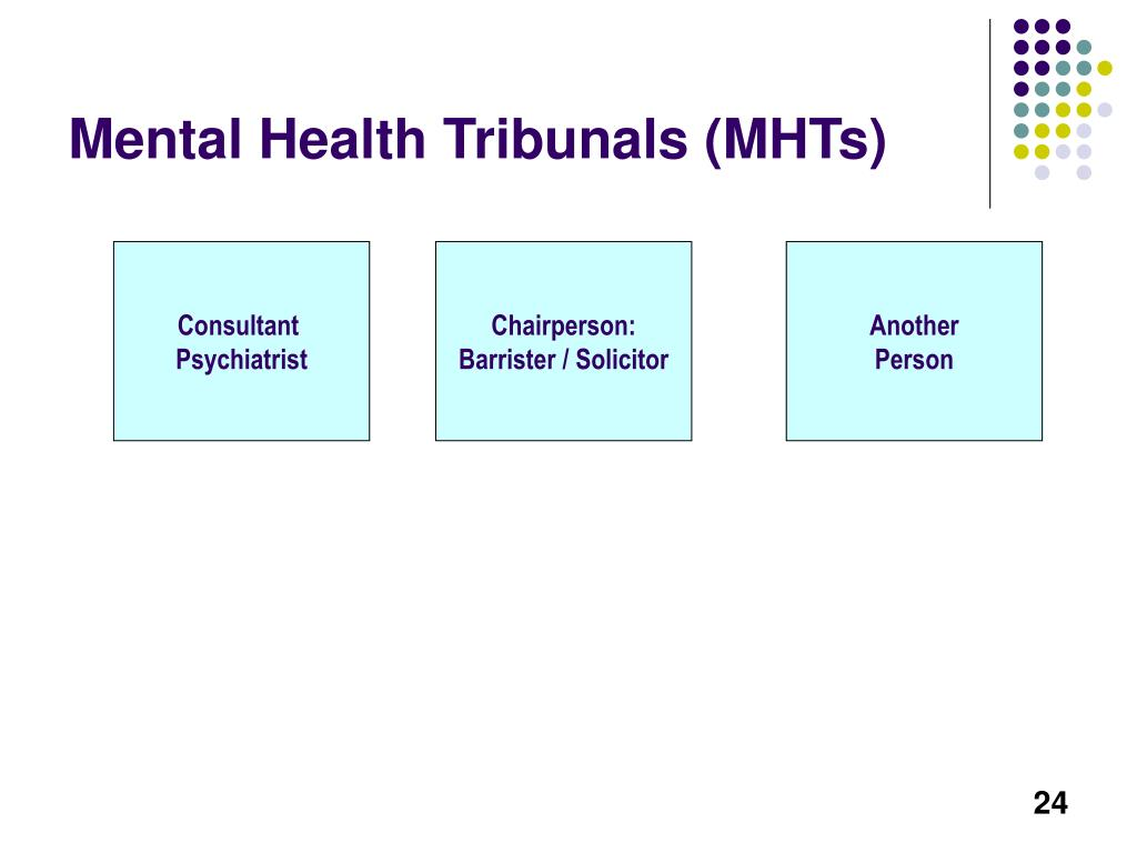 Mental Health Tribunals (MHTs)