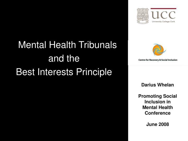 Mental Health Tribunals