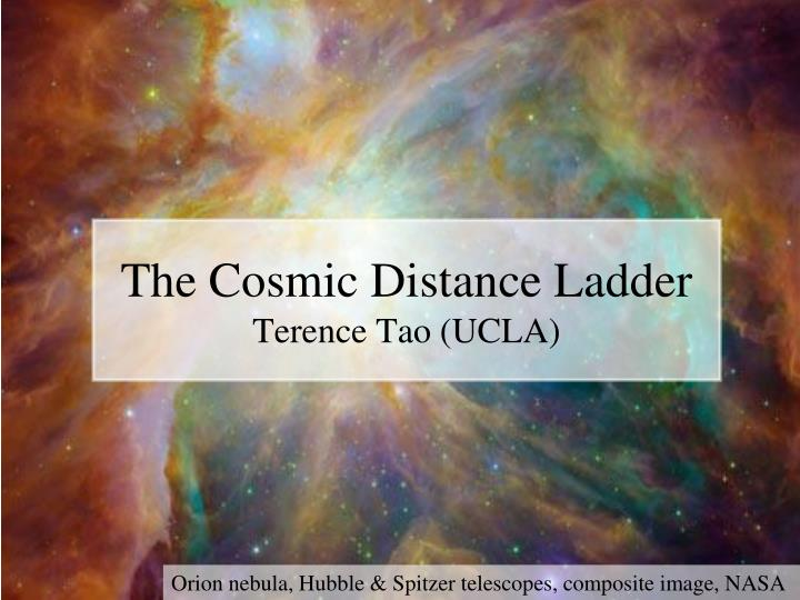 the cosmic distance ladder terence tao ucla n.