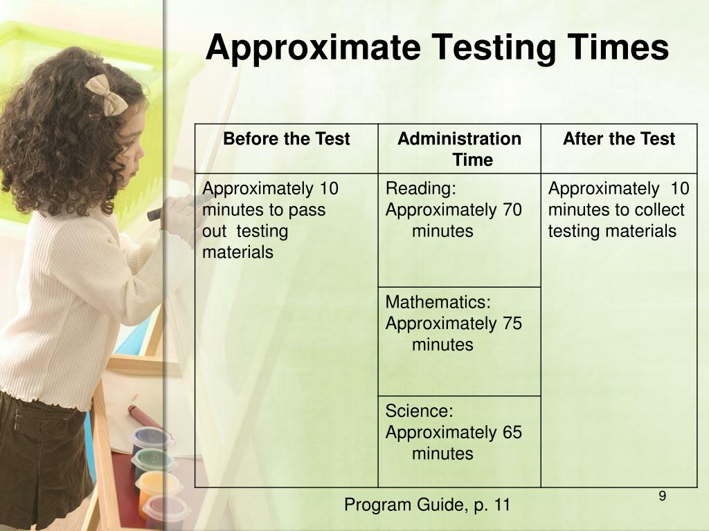 Approximate Testing Times