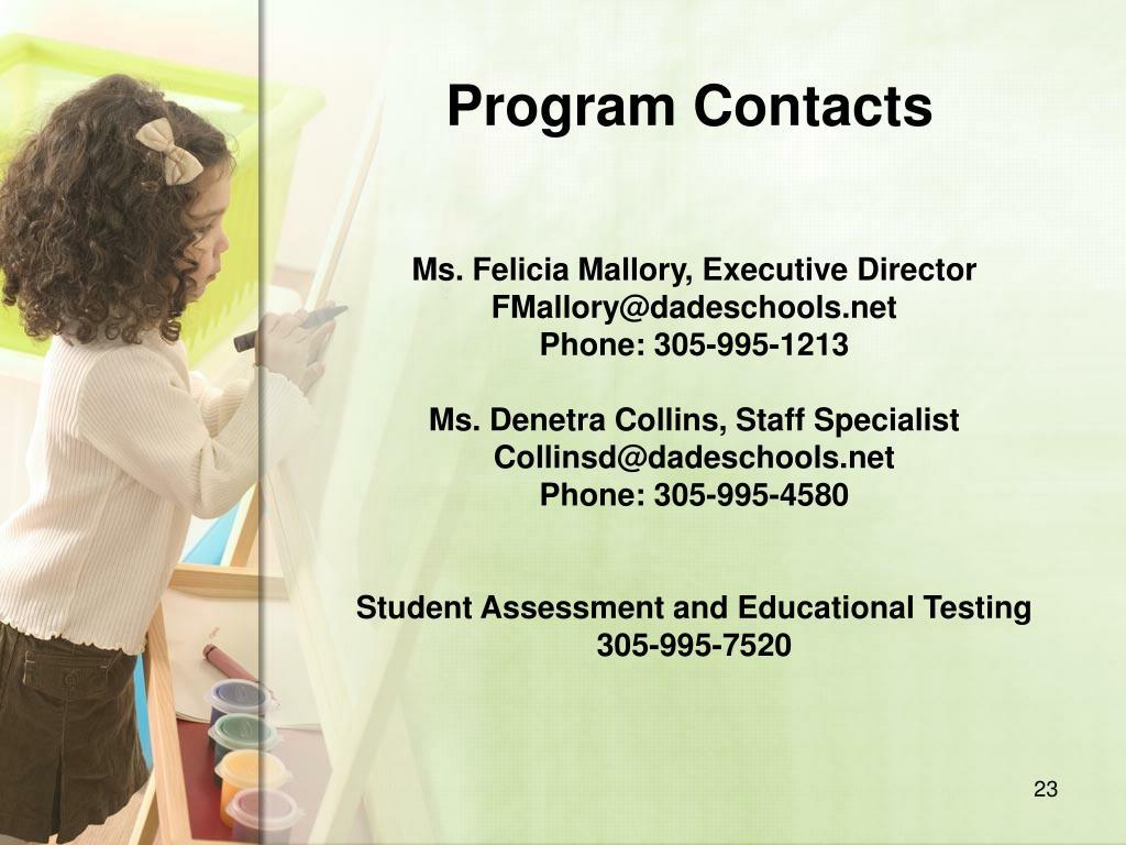 Program Contacts