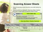 scanning answer sheets