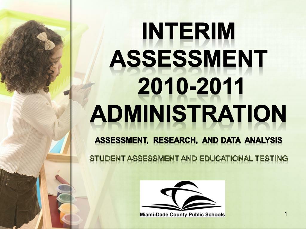 Interim Assessment