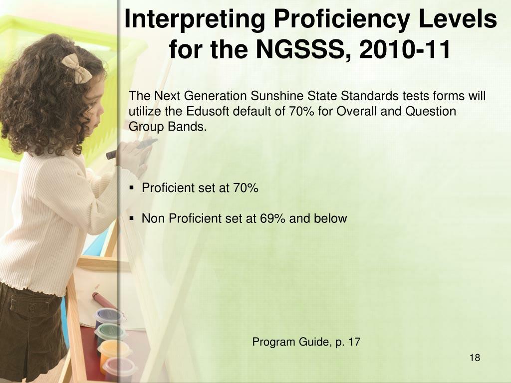 Interpreting Proficiency Levels