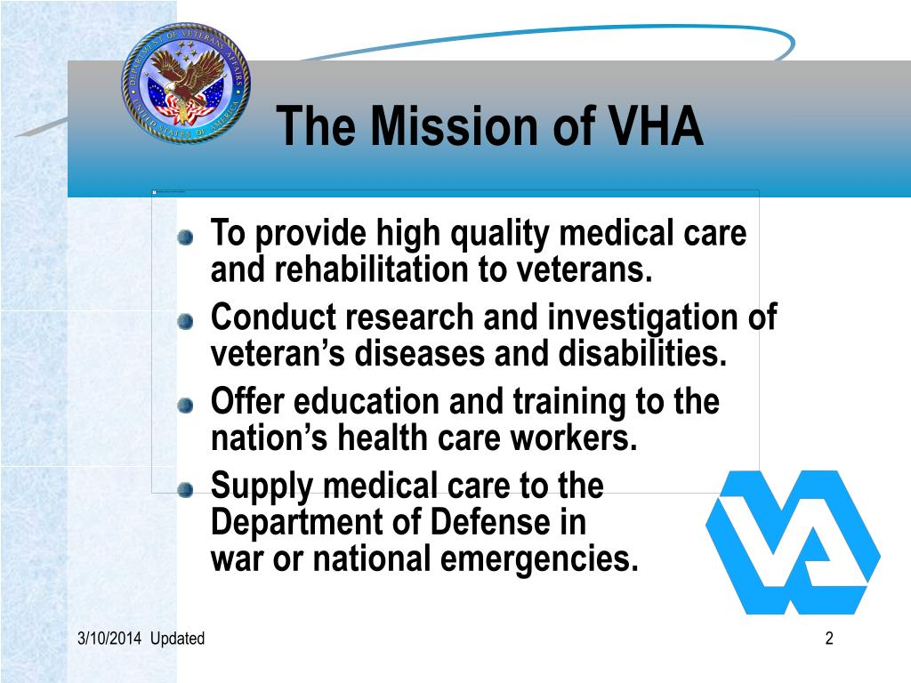 The Mission of VHA