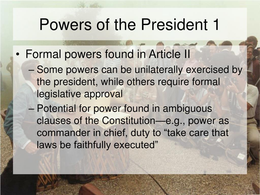 Powers of the President 1