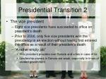 presidential transition 2